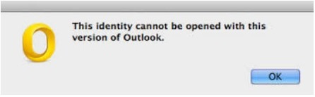 MAC identity cannot be opened error