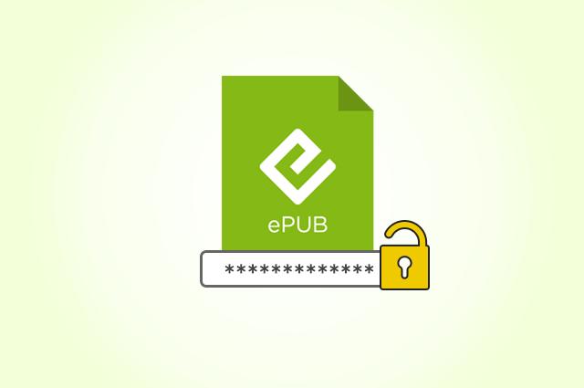 remove password from epub file