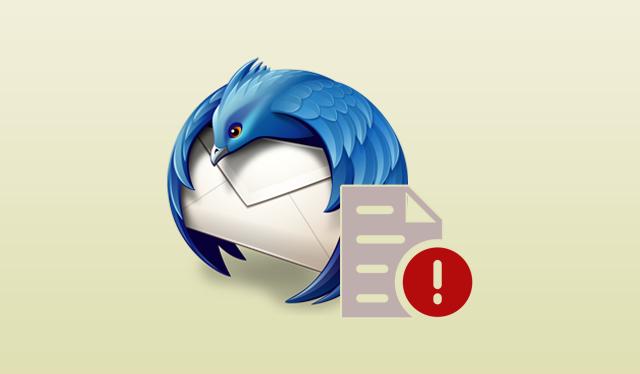error writing temporary file in thunderbird