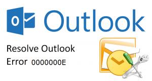 OST File Error Code 0000000E