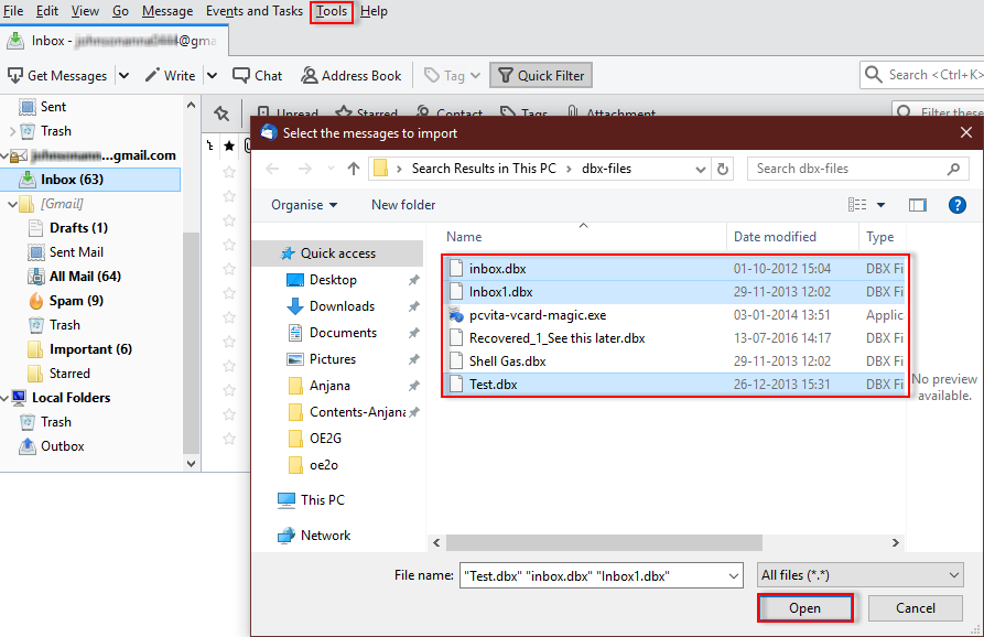 How to Migrate Outlook Express DBX to Gmail