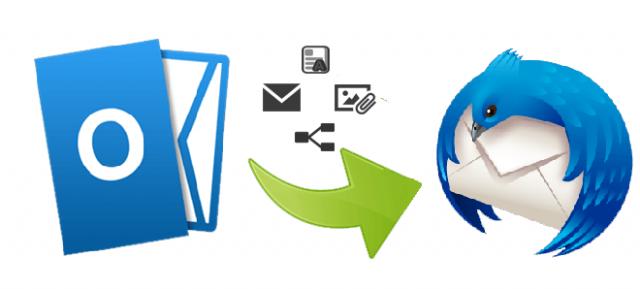 Transfer Outlook data to Thunderbird