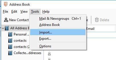 import option