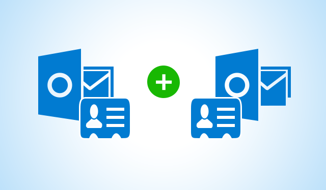 merge two outlook contact folders