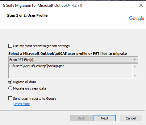 migrate all data in zoho mail to gmail