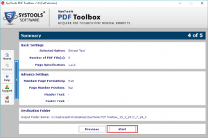 save text from pdf invoices