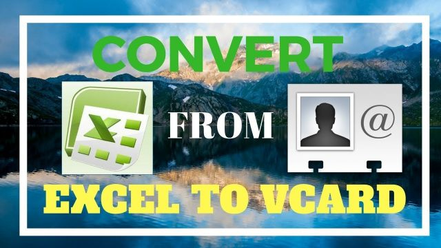 Convert from excel to vCard