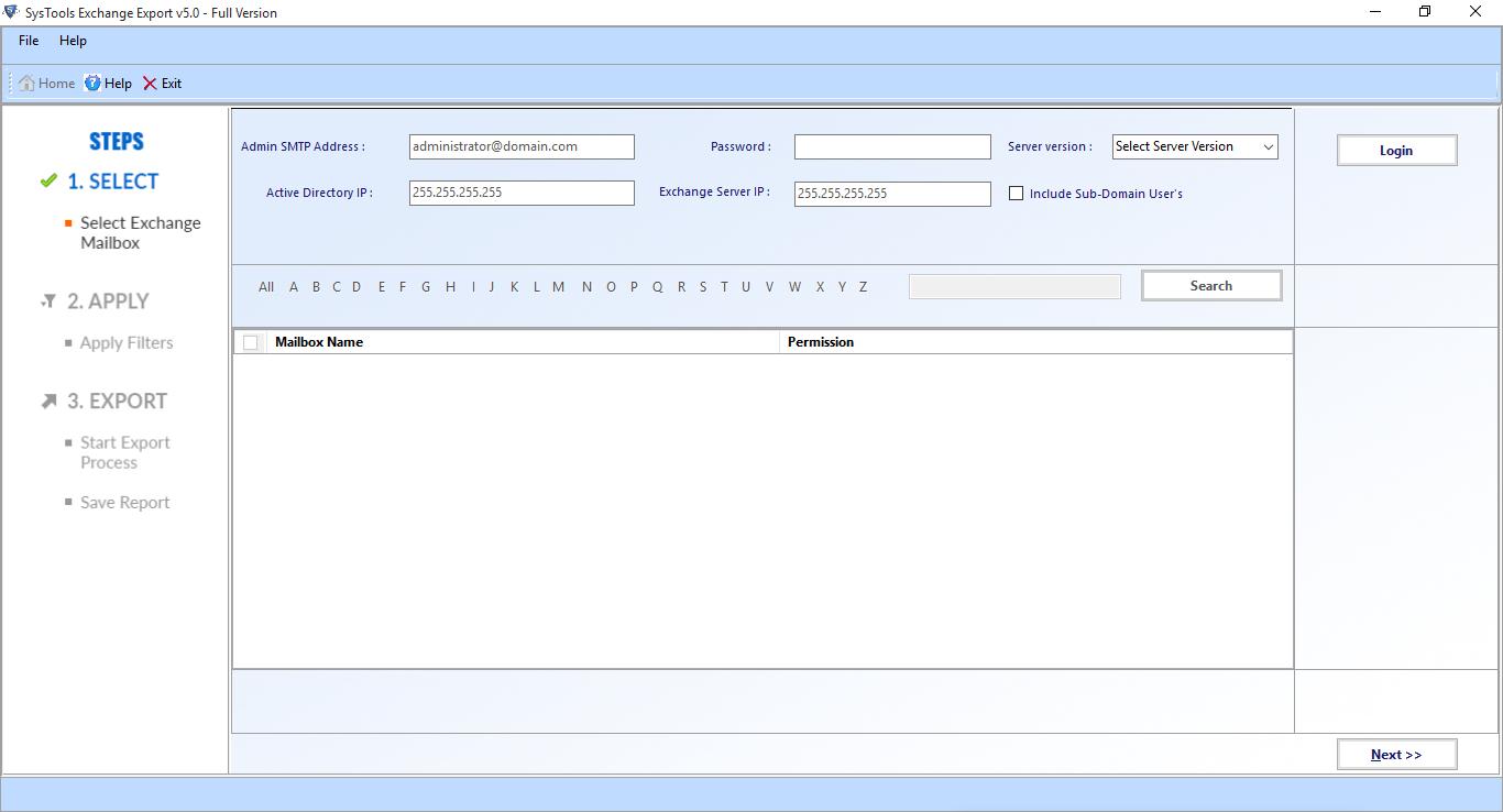 Open Exchange Export Tool