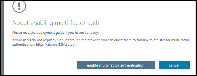 Enable Multifactor Authentication