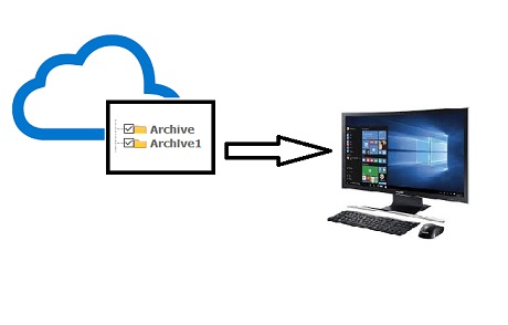 download Office 365 archive mailbox