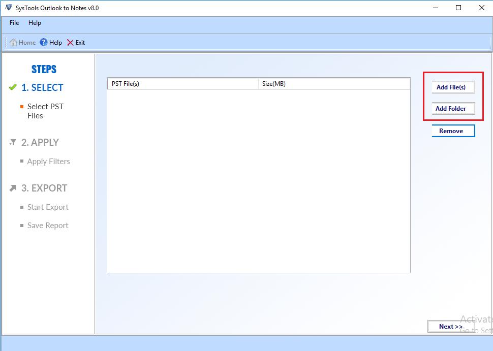 convert bulk pst files