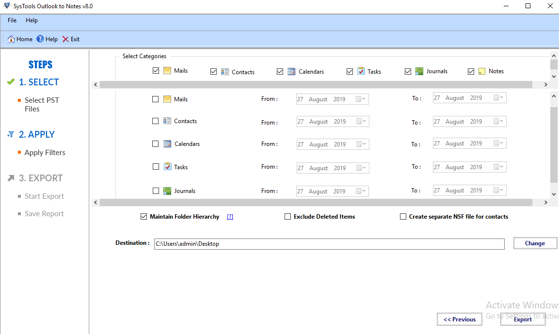 convert outlook to lotus notes