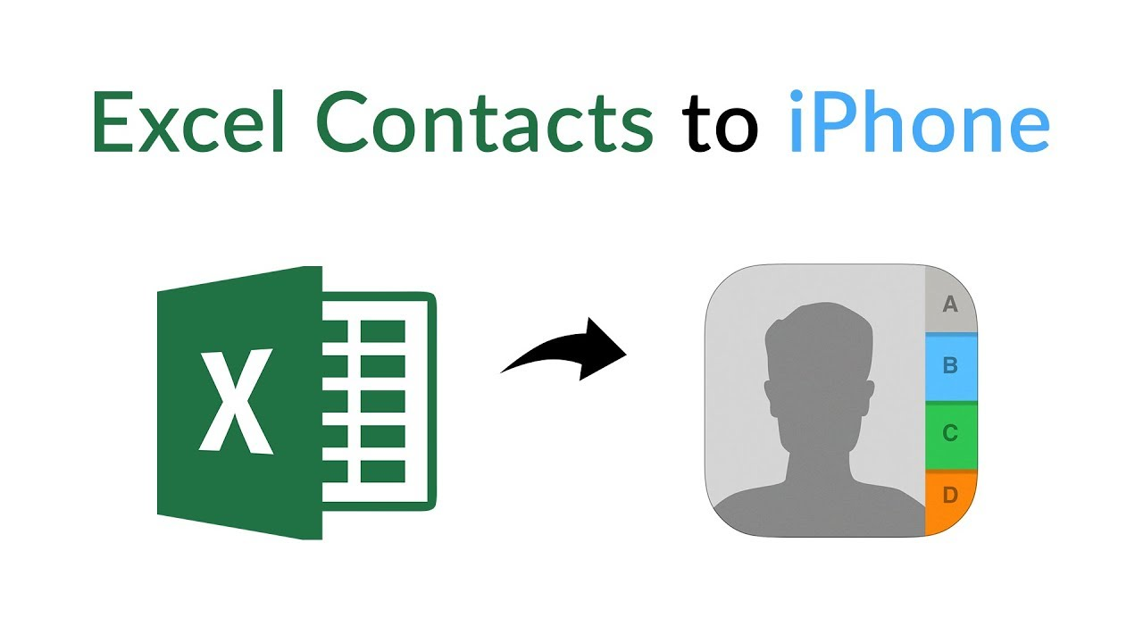 importing contacts from Excel to iPhone mac