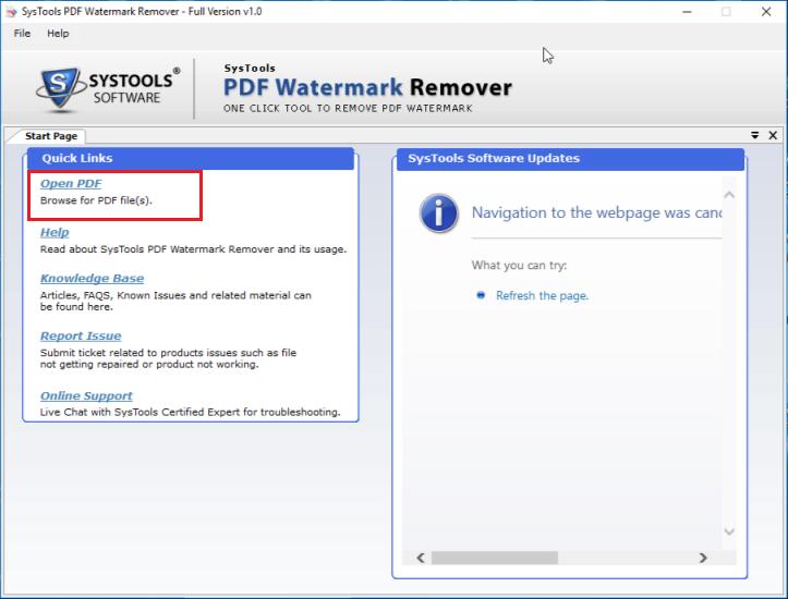 click on Open PDF file