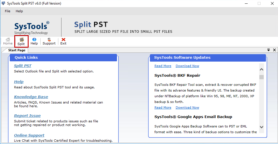 split large pst file