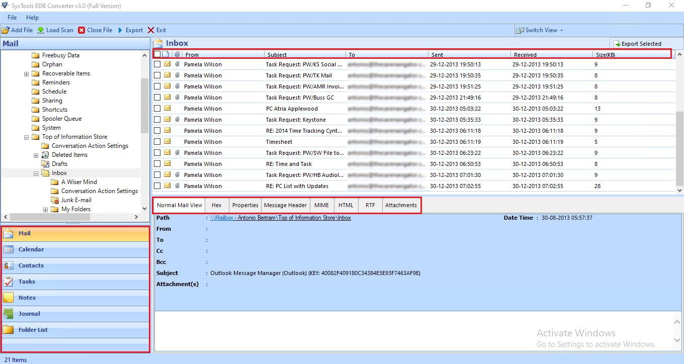 preview recover damaged edb file