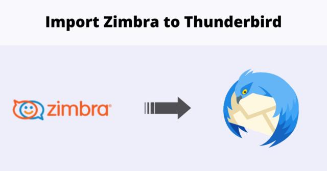 import Zimbra TGZ to Thunderbird