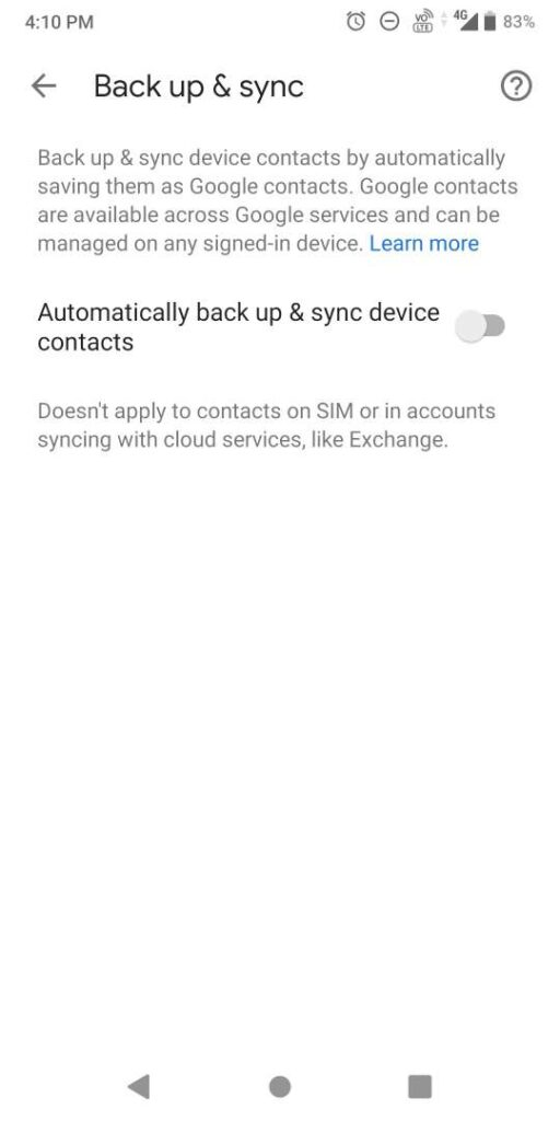 automatically sync your google contacts to gmai;