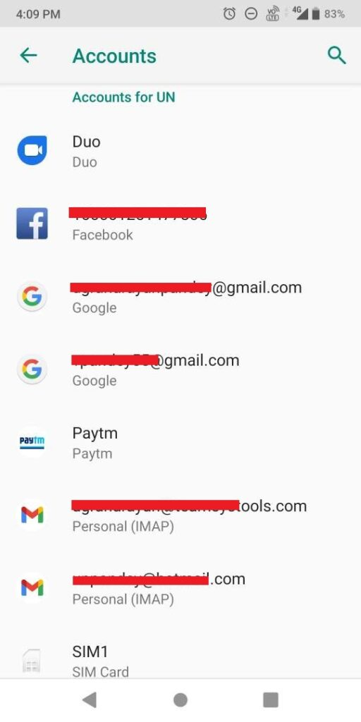 add account on your android